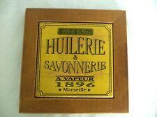 Ancienne planche en bois HUILERIE/SAVONNERIE 1896 Marseille