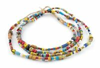 Mixed Vintage Christmas Beads Togo Medley 6mm Ghana African Multicolor Glass