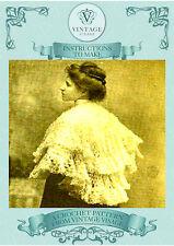 Cómo hacer un bonito estriados Downton Abbey, Titanic era, de encaje shawl-crochet patrón