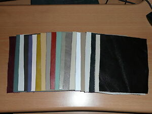 20 Leather pieces, Mixed  bundle of 20 leather pieces for crafts etc