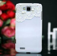Samsung Galaxy ATIV S GT-i8750 Hard Case Etui Bumper Etui Tasche Perlen Weiß 3D