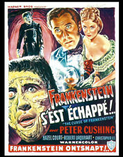 """Famous Monsters Curse of Frankenstein Poster Replica Print 14 x 11"""""""
