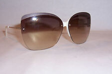 NEW YVES SAINT LAURENT SUNGLASSES YSL 6338/S IVORY/BROWN 8I3-NO AUTHENTIC