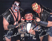 Demolition and Mr. Fuji Signed Autograph WWE 8x10 Tag Team Champs Photo Reprint
