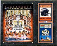 """Photo File NFL Denver Broncos Super Bowl 50 Champions Wood Plaque - 12"""" x 15"""""""