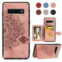 For Samsung Galaxy S10/S8/S9 Plus S7 Edge Shockproof Leather Wallet Phone Case