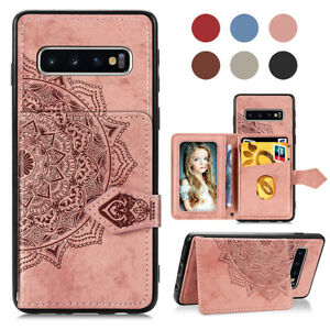 Samsung Galaxy S10E Case,Galaxy S10E Wallet Case,Designed for Samsung Galaxy S10E PU Leather Folio Flip Case with Card Slots Holder /& Kickstand Cute Owl Dreamcatcher Phone Protective Cover,Rose Gold