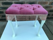 Vintage Sherborne pink Stool VGC for Dressing Table Vanity Bedroom