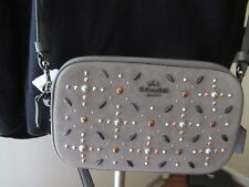 Coach Crossbody Wristlet Clutch Prairie Rivets Heather Grey 22868