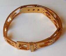 Vintage Gucci Classic Signature GGGGGG  Link Belt Scarce