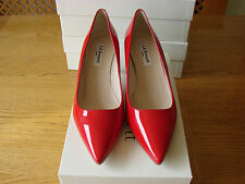 New LK Bennett Octave Tomato Red Patent Leather shoes size 4.5 UK, 37.5 EU