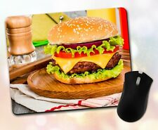 New listing Food Mouse Pad • Classic Cheeseburger Delicious Gift Decor Des 00004000 k Accessory