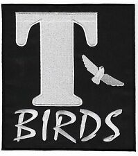 T-BIRDS Patch 20cm Embroidered Badge Applique Grease Costume Jacket TBIRDS NEW!
