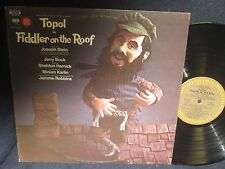 """Topol in """"Fiddler on the Roof"""" Original London Production LP"""