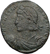 CONSTANTIUS II Constantine the Great son AE2 Ancient Roman Coin CHI-RHO i22528