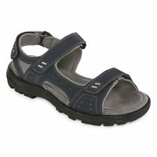 St. John's Bay Men's Sunter Navy Strap Sandals Gray Size 13 NEW