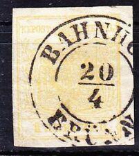 Österreich 1850: 1 Kr MP Ib (ANK 1) gestempelt (ANK 140 €) sign. Ferchenbauer