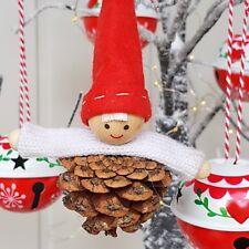 Pine cone boy elf/nisse/pixie Nordic Christmas tree decoration Gisela Graham