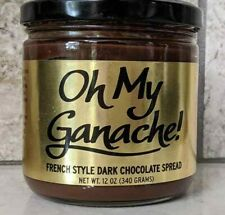 French Style Belgium Dark Chocolate Ganache Spread Coffee Additive NEW 12 oz Jar