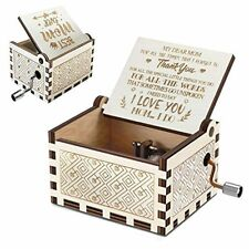 Music Box You are My Sunshine | Vintage Laser Wooden Mother's Day Musical Gift |