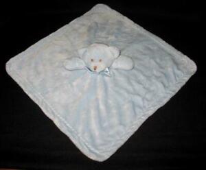 "BLANKETS & BEYOND Plush Blue Bear Baby Lovey Blanket 15.5"" Super Soft! Excellent"