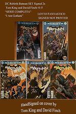 DC Rebirth Batman FULL SET Signed 2x Tom King and David Finch #1-5 autogramme