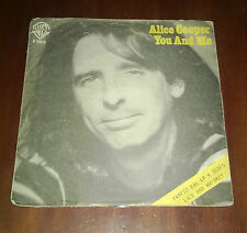 "Alice Cooper 45 Giri "" YOU AND ME-IT'S HOT TONIGHT "" WB"