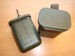 US ARMY M258A1 Dekontaminationsbehälter Box - Wasserdicht - Waterproof -