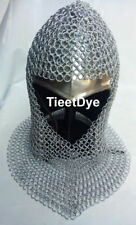 Chain mail Coif v-neck Chainmail Armour Chain-mail hood