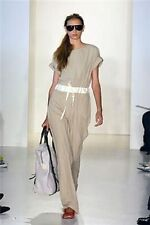 YIGAL AZROUEL Khaki One-Piece Pant JUMPSUIT Drawstring Waist Button-Back NEW 6
