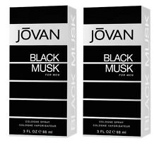 Jovan Black Musk Eau de Cologne for Men, 88ml (pack of 2), free shipping world