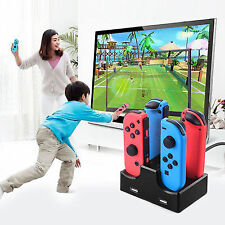 USB 4-port Charger Stand Charging Dock for Nintendo Switch Joy-con Controller