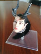 "1:6 Scale Dragon Lady Long Hair Head For 12"" Female Figure Body"
