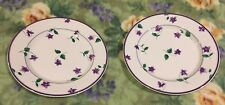 ❤️Waverly Garden Room Sweet Violets Set Of (2) Salad Plates Purple Floral