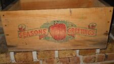 VINTAGE WOOD CHRISTMAS HOLIDAY APPLE CRATE BOX