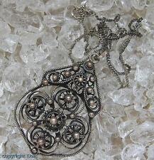 Trachtencollier Silbercollier Collier aus 800 Silber Antik Jugendstil Kette