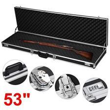 """53"""" Long Aluminum Locking Rifle Gun Case Lock Shotgun Storage Box Carry Case"""