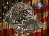 New Realtree Camo American Flag Mesh Real Tree Mens Snapback Trucker Cap Hat