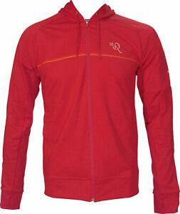 Red Nike Mens Training Jacket Hooded Track Suit Top Zip Up Hoodie Ronaldinho 10R