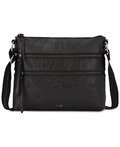 NEW The Sak Reseda Black Leather Crossbody Bag *Damaged*