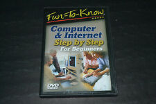 Fun To Know~Computer & Internet Step by Step For Beginners~DVD~FAST SHIPPING!