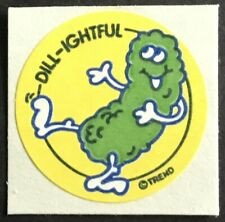 Vintage 80s Matte Trend Scratch & Sniff Sticker - Dill Pickle - Mint!!