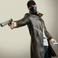 Watch Dogs Coat The Vigilante Brown Aiden Pearce Jacket Men Cosplay Game Costume