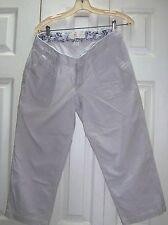 Eddie Bauer Ripstop Off White Beige Tan Capri Shorts Cropped Pants 8