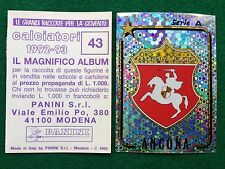 CALCIATORI 1992-93 92-1993 n 43 ANCONA SCUDETTO  Figurina Sticker Panini (NEW)