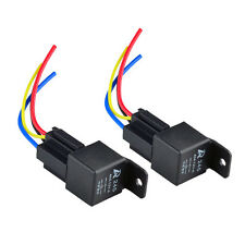 2PACK Car Auto 12V DC 40A AMP Relay & Socket SPST 4Pin 4 Wire Fast US Delivery