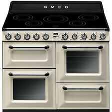 Smeg Victoria TR4110iP 110 Cm Induction Freestanding Range Cooker in Cream s075