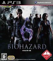 Used PS3 BIOHAZARD 6 SONY PLAYSTATION 3 JAPAN JAPANESE IMPORT