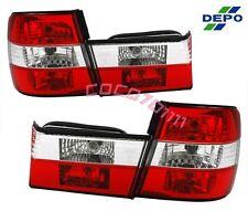 89-95 BMW E34 5-Series 4D SEDAN EURO RED CLEAR Tail Lights DEPO 4 PCS