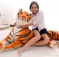Giant Simulation Tiger Soft Plush Toys Big  Animal Stuffed Doll Kid Birthday Gif